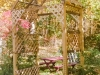 Rose Arbor is the new entrance to the enclosed garden area